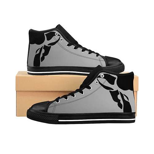 Grey Black Sheep High-Top Sneakers