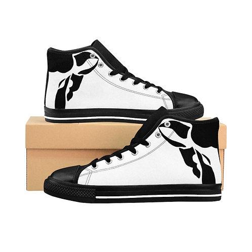White Black Sheep High-Top Sneakers