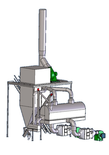 ALLTECH Used Fluid Bed Dryer with Back-M