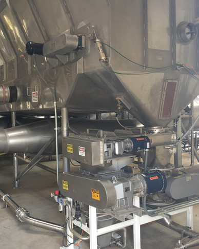 Discharge End of Fluid Bed with optional Back Mix System and Milling