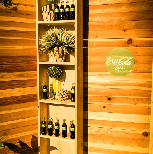 Wooden Shelves seen here coupled with our wooden walls
