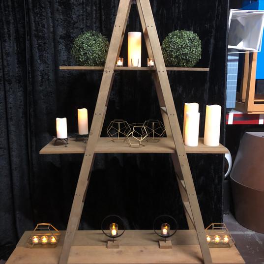 Custom built shelves perfect for decor or food display