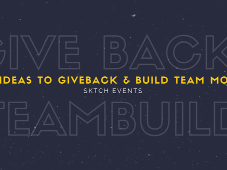 Our ideas on how to incorporate giving back into your team building exercises.