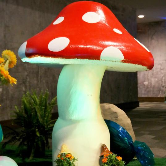 Oversized mushroom