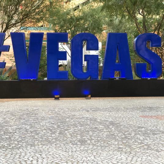 Oversized #vegas letters