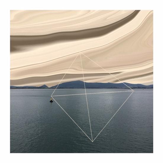 """""""Bahía 2"""" Foto collage 20x20 cm Autora Nuria Velázquez"""