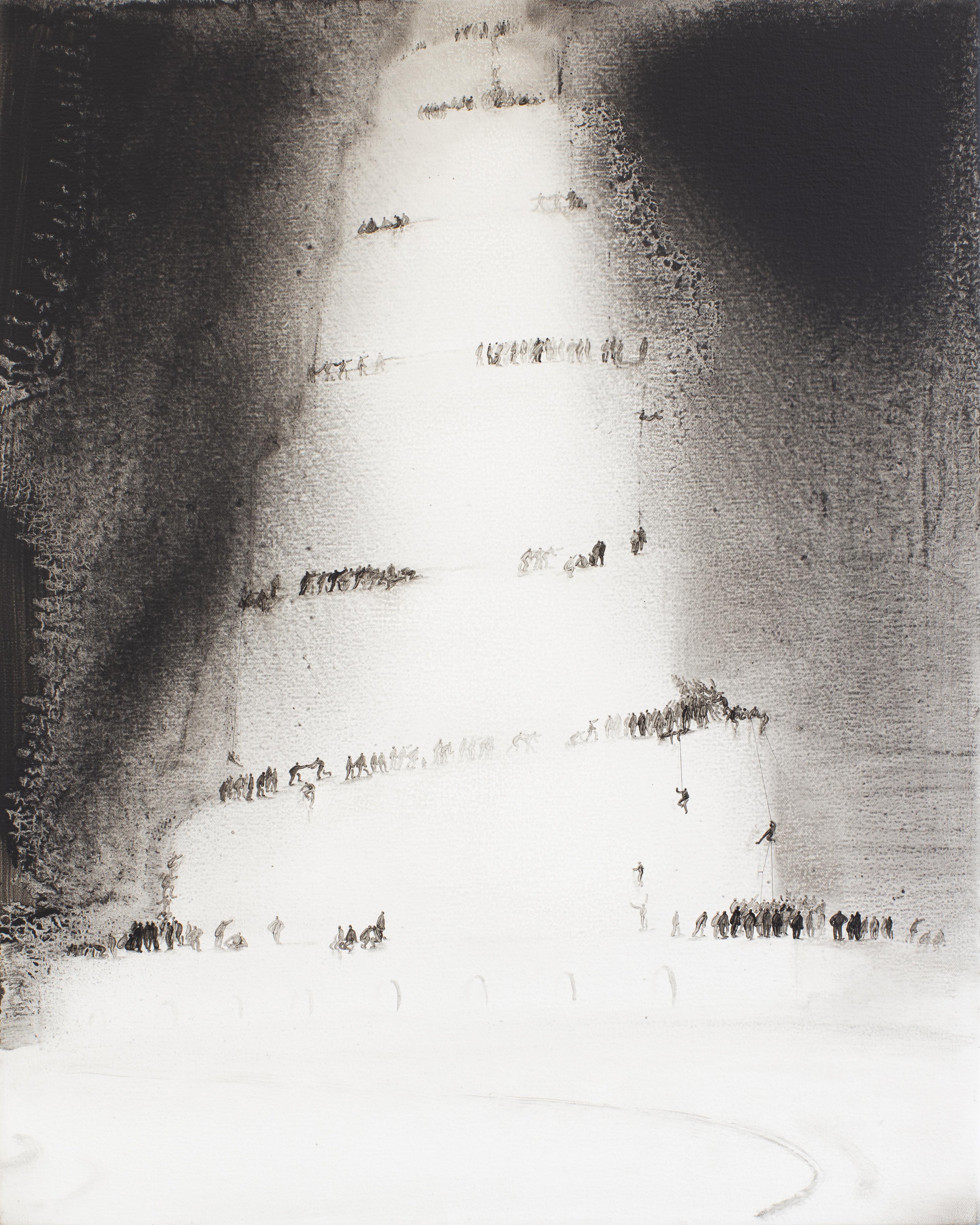 2.1 Bable, 巴别塔, oil on canvas, 布面油画, 50.