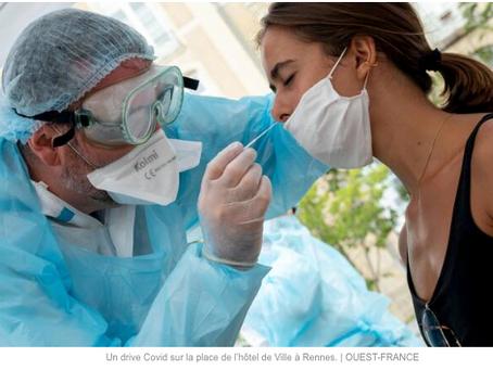 """OUEST-FRANCE: """"Coronavirus. Peut-on vous obliger à passer un test de dépistage ?"""""""