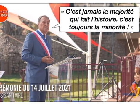 """MAIRE de VILLENEUVE : """"C'EST JAMAIS LA MAJORITÉ QUI FAIT L'HISTOIRE, C'EST TOUJOURS LA MINORITÉ"""""""