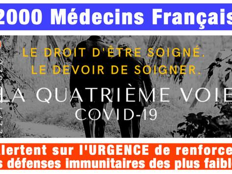 Le Manifeste: 2000 médecins français alertent sur l'URGENCE de renforcer l'immunité des plus faibles