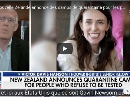 La Nouvelle-Zélande annonce des camps de quarantaine où des patients positifs seront placés de force