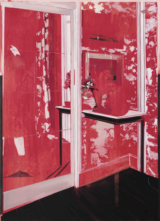 Vivienne red oil on canvas, 150x130cm