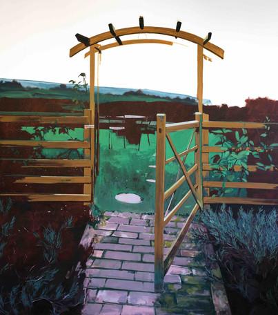 J's garden oil on canvas, 180x200cm