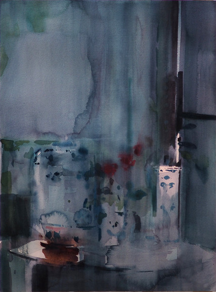 The Dusk Afterwards 2, watercolour o pap