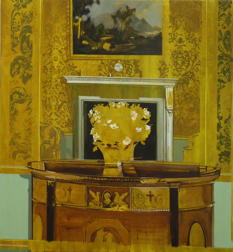 Mustard Mirror oil on canvas, 125x130cm
