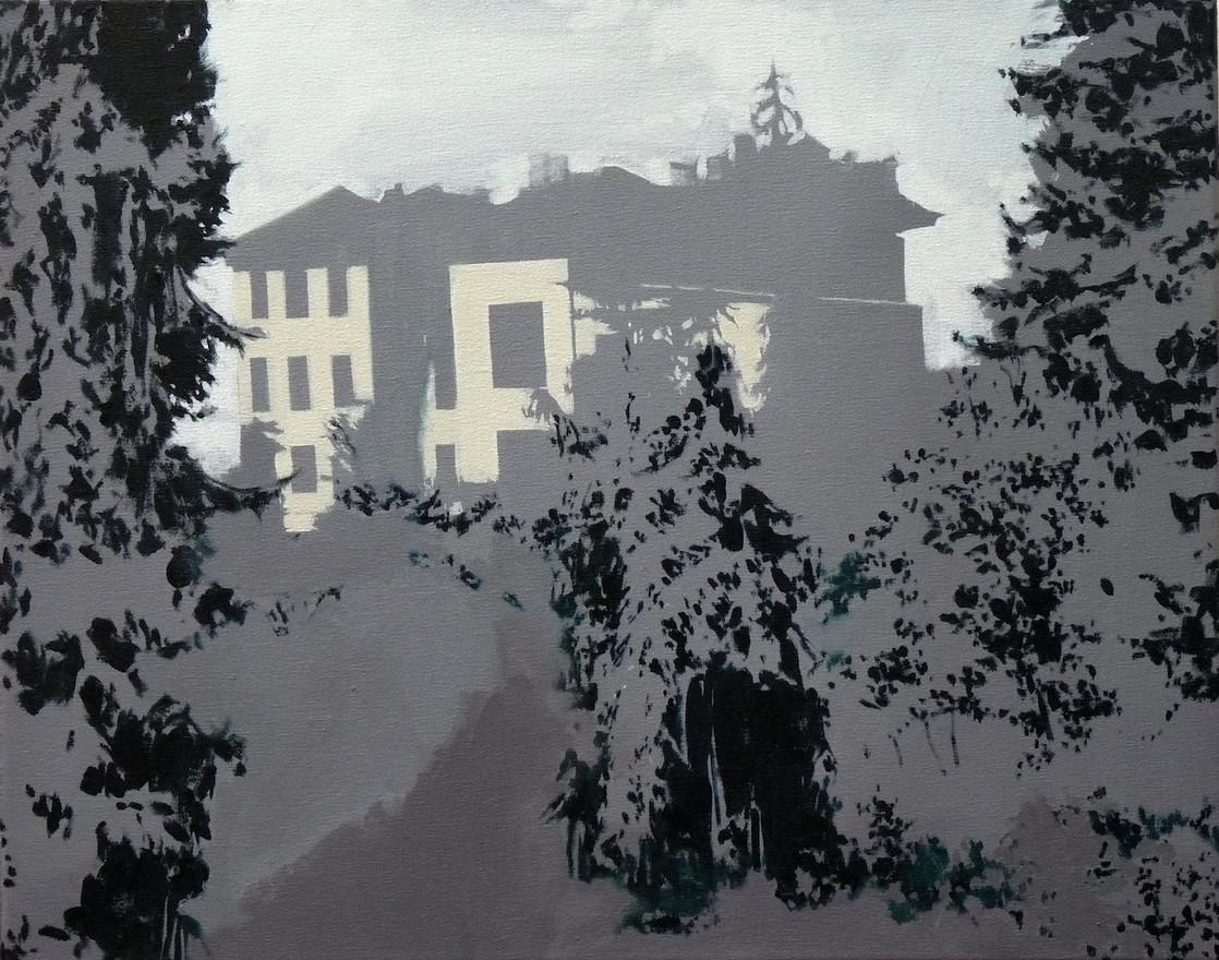A neighbour's landmark Oil on canvas, 50x40cm