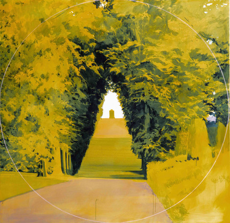 Yellow Path oil on canvas, 180x180cm