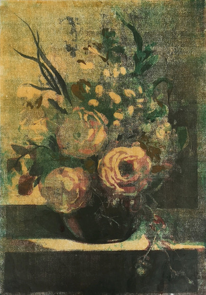 Still Life III, monoprint on Japanese paper, 57.6x40cm, from the Tender series
