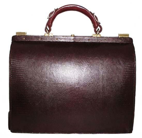 LEDERER Vintage Lizard Travel Bag Mallette VEB-009