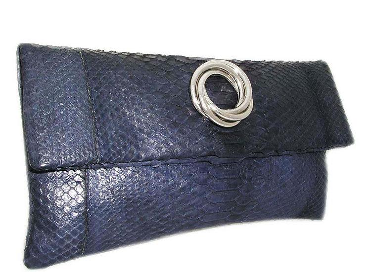 COBALT Vintage Python Folding Clutch Bag   VEB-019