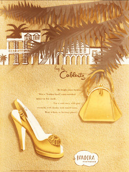 Coblentz Purse Shoe Bazaar Ad 1949 Print AP-045