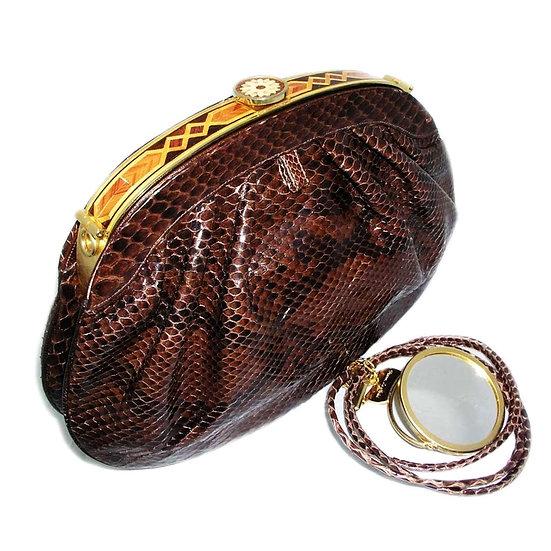 FINESSE Rare Snakeskin Clutch Bag Mosaic CB-032