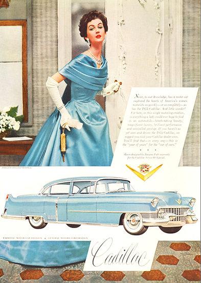 Cadillac Vogue Fashion Ad 1954 Art Print AP-034