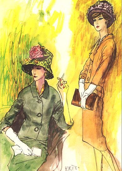 Vogue Fashion Purse Hat Ad March 1960 Print AP-040