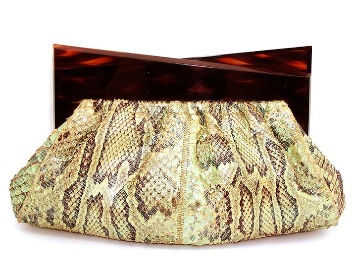 RARE COLLECTOR Python Lucite Clutch Bag CB-021