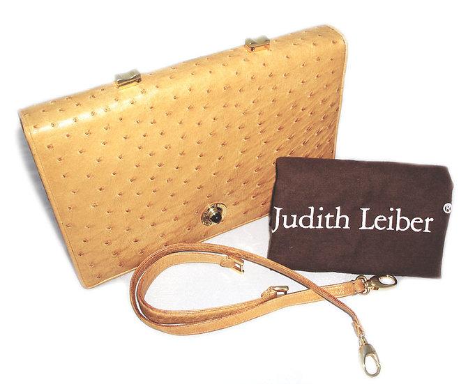 JUDITH LEIBER Vintage Ostrich 3-way Bag VDB-040