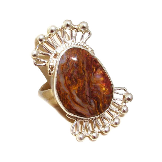 Pietersite Silver Ring CR-003