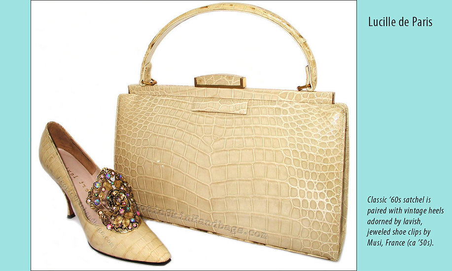 Lucille de Paris Blond Alligator Bag Print P-001