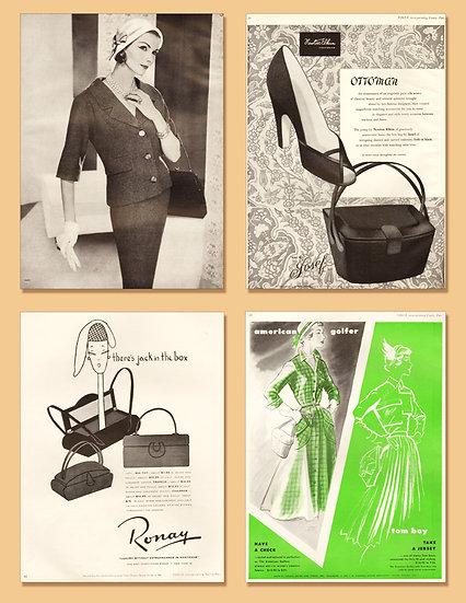 New Look Purse Vogue Ad 1950-1958 Print AP-052