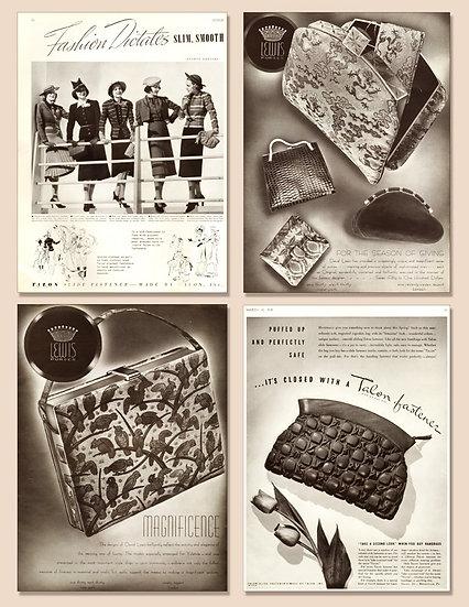 Lewis Bags Talon Ads Vogue 1938 Print AP-030