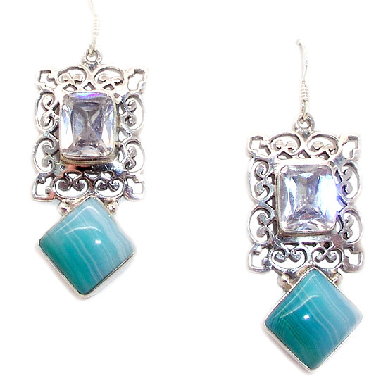 Agate Topaz Earrings GE-005