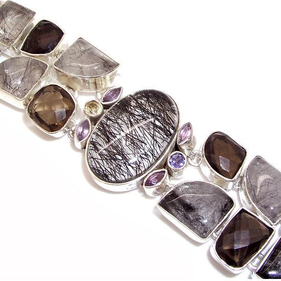 QUARTZ Artisan Silver Gem Bracelet Peridot GB-014