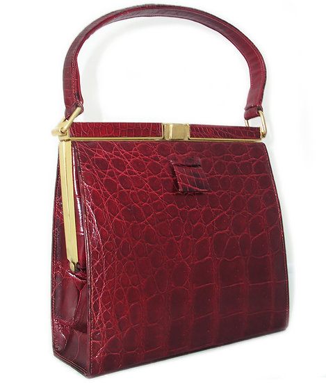 LUCILLE DE PARIS Rare Alligator Bag CB-009