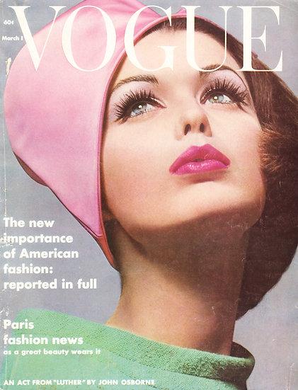 Vogue Cover March 1962 Fashion Print AP-033