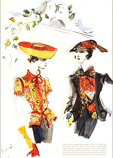 Chanel Fashion Ad Vogue 1937 Art Print AP-015