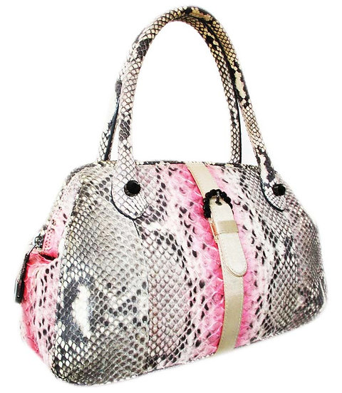 UNGARO Designer Python Bowling Bag Italy VDB-034
