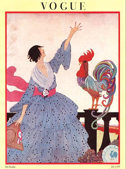 Vogue Cover July 1, 1918 Fashion Print AP-004