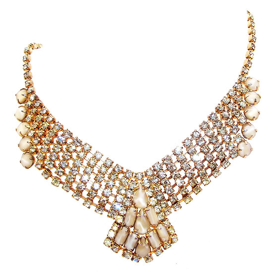 Rhinestone Choker Necklace VJ-009