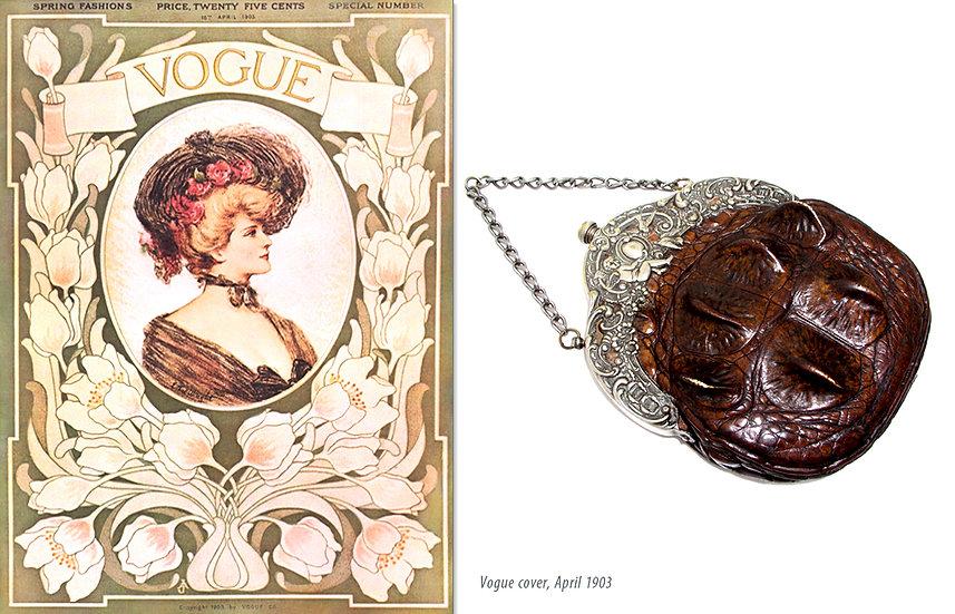 Victorian Vogue 1903 Hornback Purse Print P-046