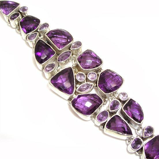 Amethyst Silver Bracelet GB-001