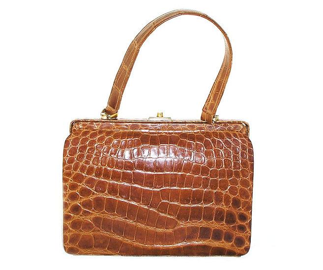 FRANCE Vintage Crocodile Frame Bag         VEB-022