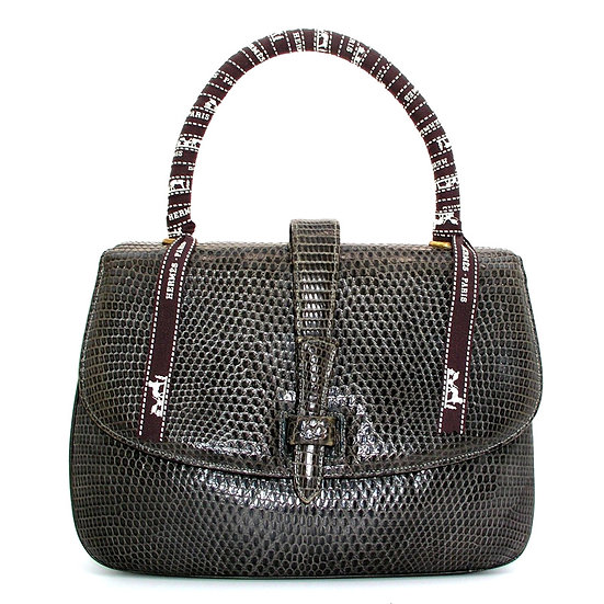 LUCILLE DE PARIS Lizard Bag Hermes Ribbon VDB-058