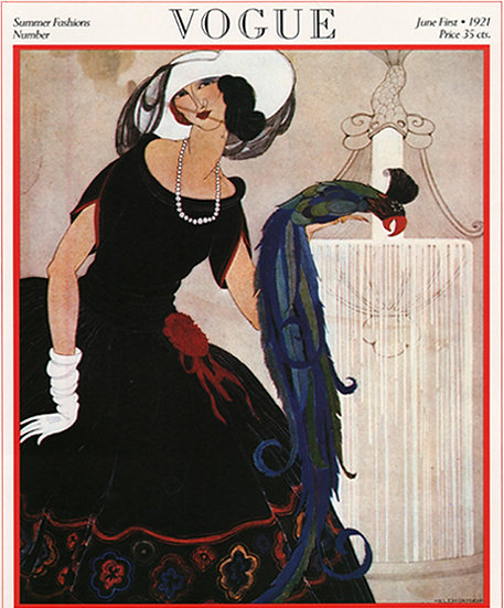Vogue Cover June 1, 1921 Fashion Print AP-007