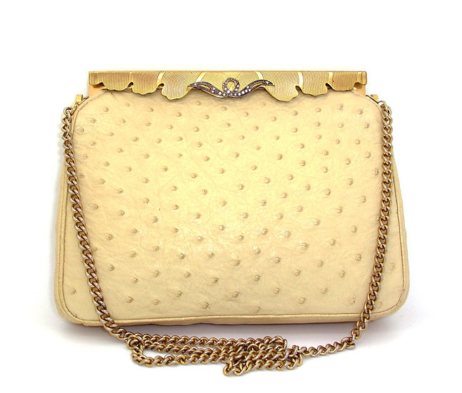 LUCILLE DE PARIS Ostrich Purse VDB-062