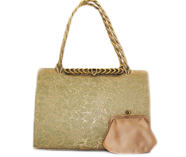 MARTIN VAN SCHAAK Gold Brocade Purse VDB-052