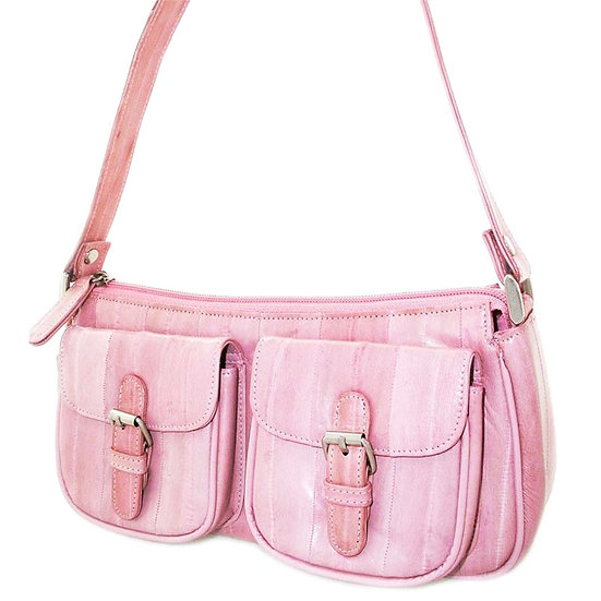 Lee Sands Rose Eel Skin Hobo Purse VEB-029